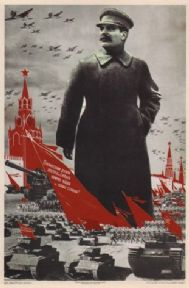 Vintage Russian poster - Stalin and his spirit inspire and defend our Army and Motherland! 1939